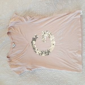 G by Guess sequined tee, sz L